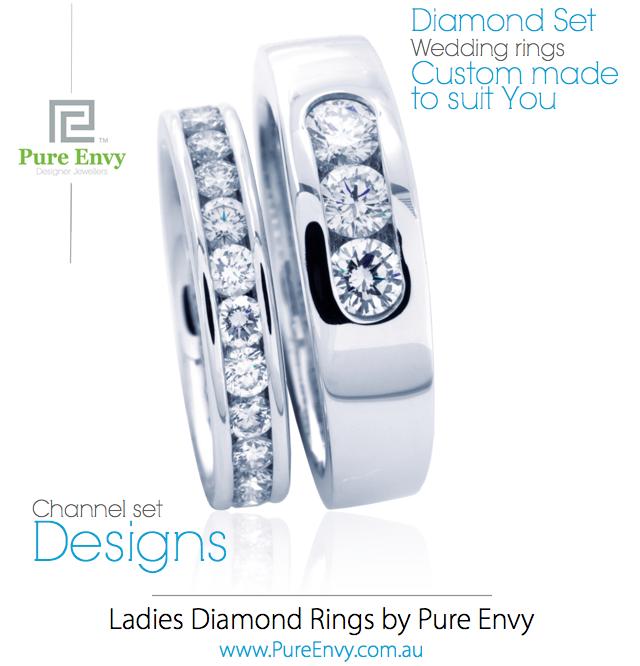 #2, Ladies Diamond Set Wedding rings by Pure Envy