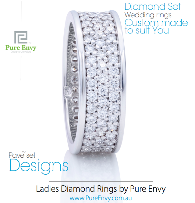 # 4, Ladies Wedding rings Pave` Set by Pure Envy