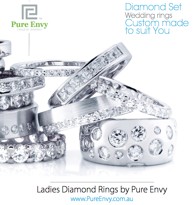 #8, Ladies Diamond set wedding ring designs by Pure Envy