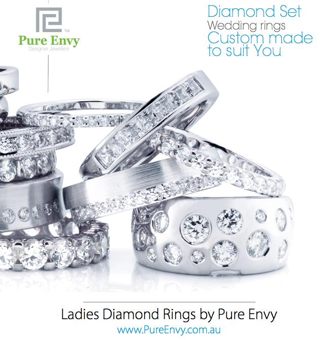 #8, Ladies Diamond set wedding ring designs by Pure Envy