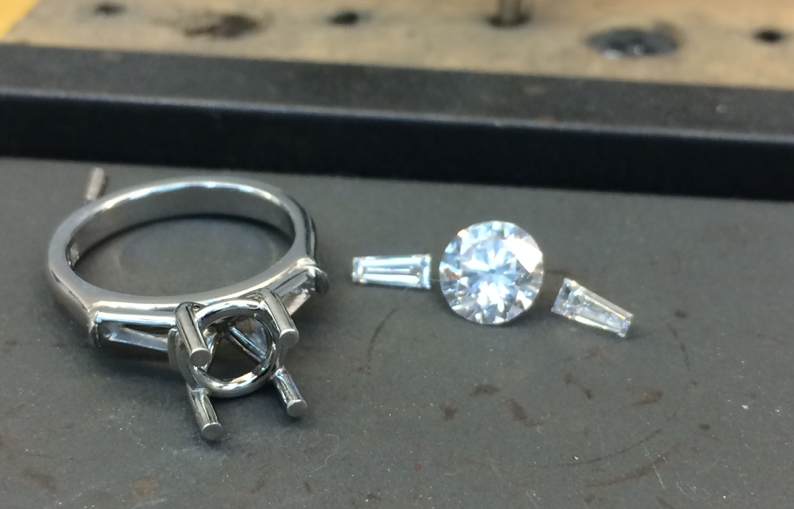 About to set the Diamonds in a Pure Envy ring