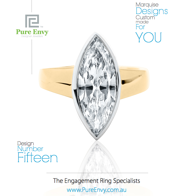 Marquise Diamond Engagement Ring #15, by Pure Envy