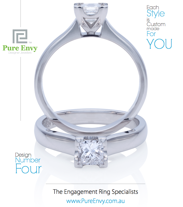 Princess Cut Solitaire Engagement ring #4, by Pure Envy