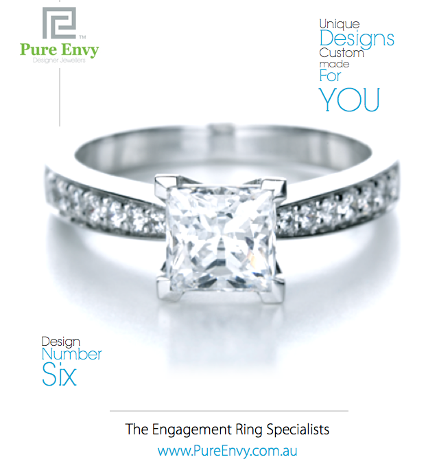 Princess Cut and bead set Engagement Ring # 6, by Pure Envy