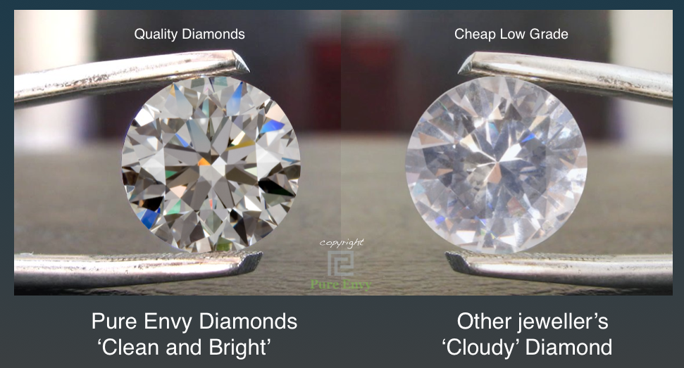Pure-Envy -diamond-compared-to-cheap-low-grade-diamond