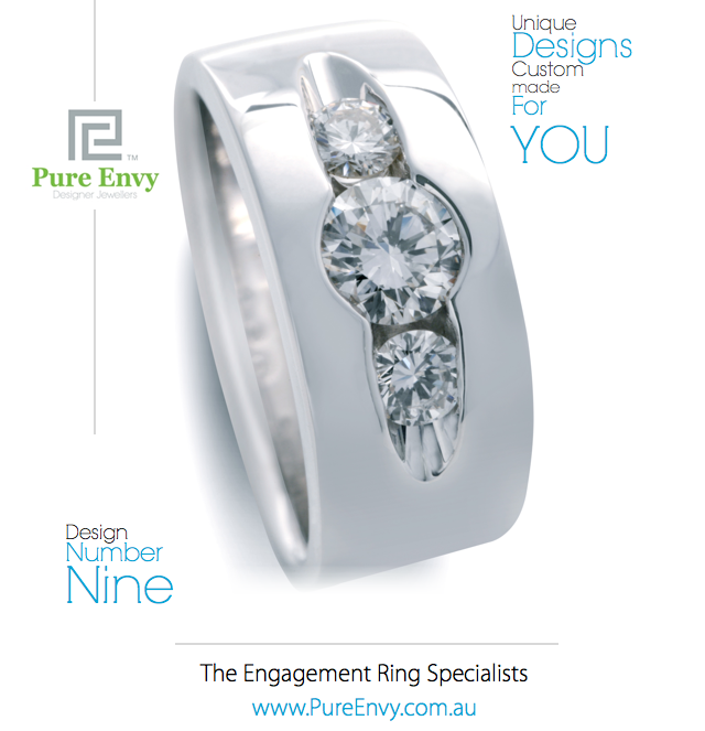 Trilogy Commitment Ring Design #9, by Pure Envy