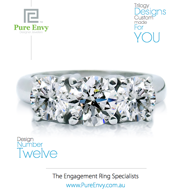Trilogy design Engagement Ring #12, by Pure Envy