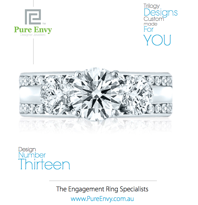 Trilogy design Engagement Ring #13, by Pure Envy