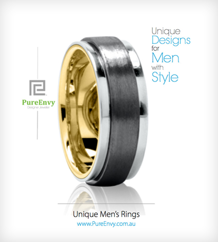 Titanium-men's-ring-with-gold-sleeve