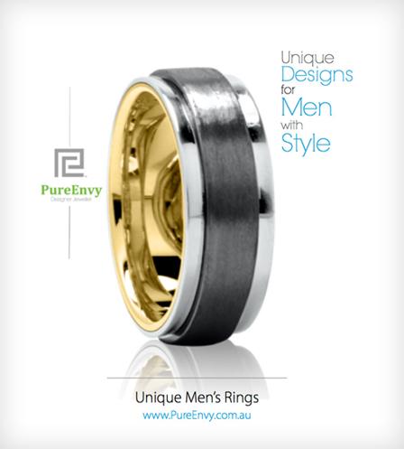 Titanium-men's-ring-with-gold-sleeve
