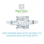 side-tapered-baguette-ascher-cut-diamond-engagement-ring