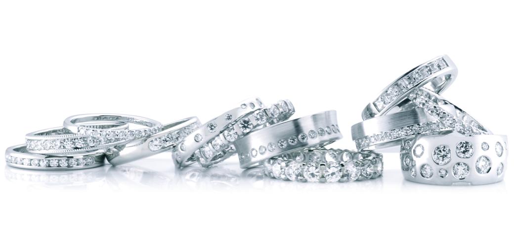 Diamond Wedding and diamond anniversary rings by PureEnvy.com.au