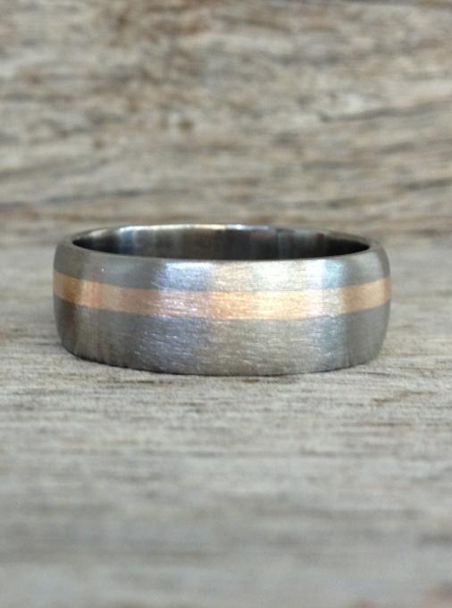 Men S Titanium Amp Rose Gold Ring Design 4 Pure Envy