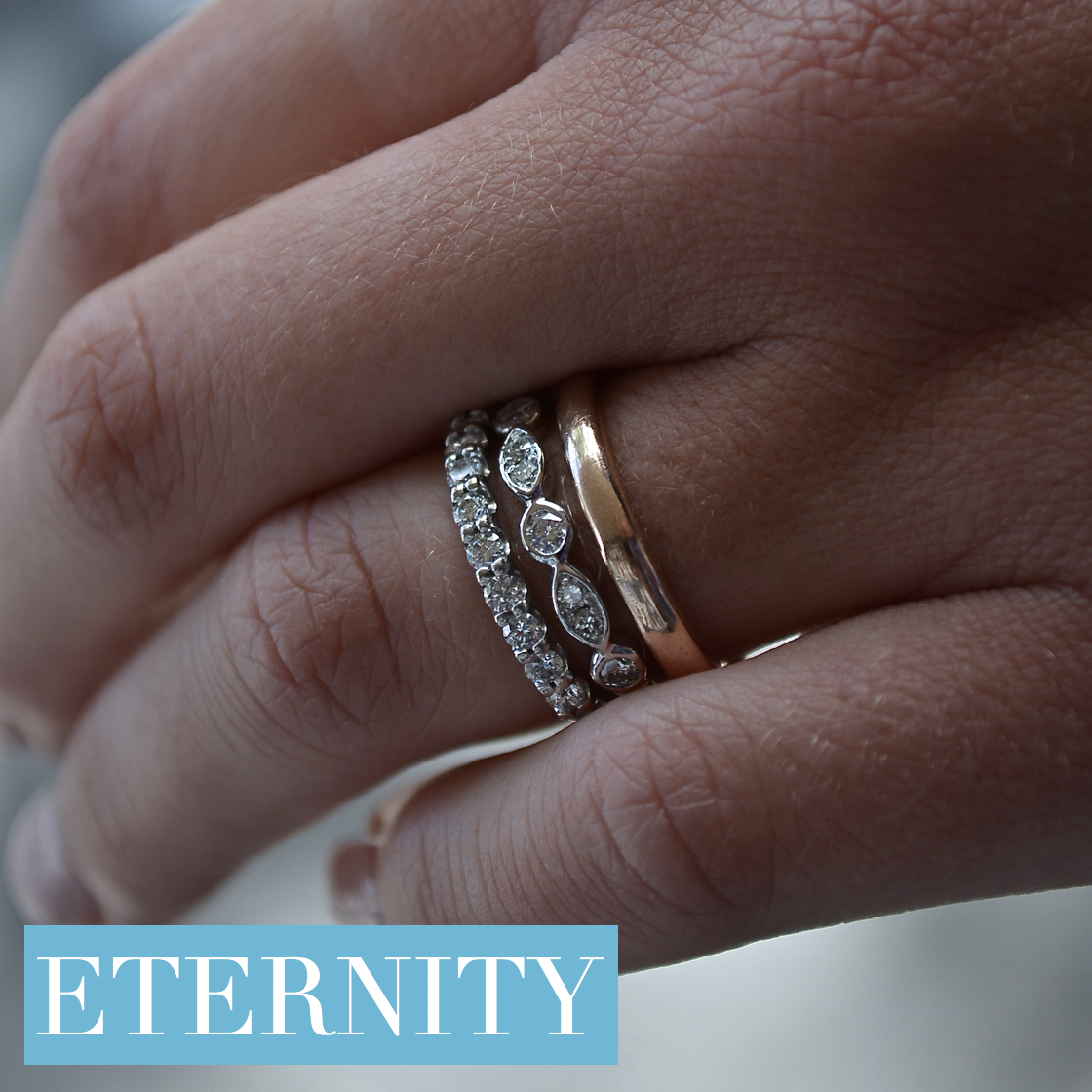 Image of Pure Envy Eternity Rings