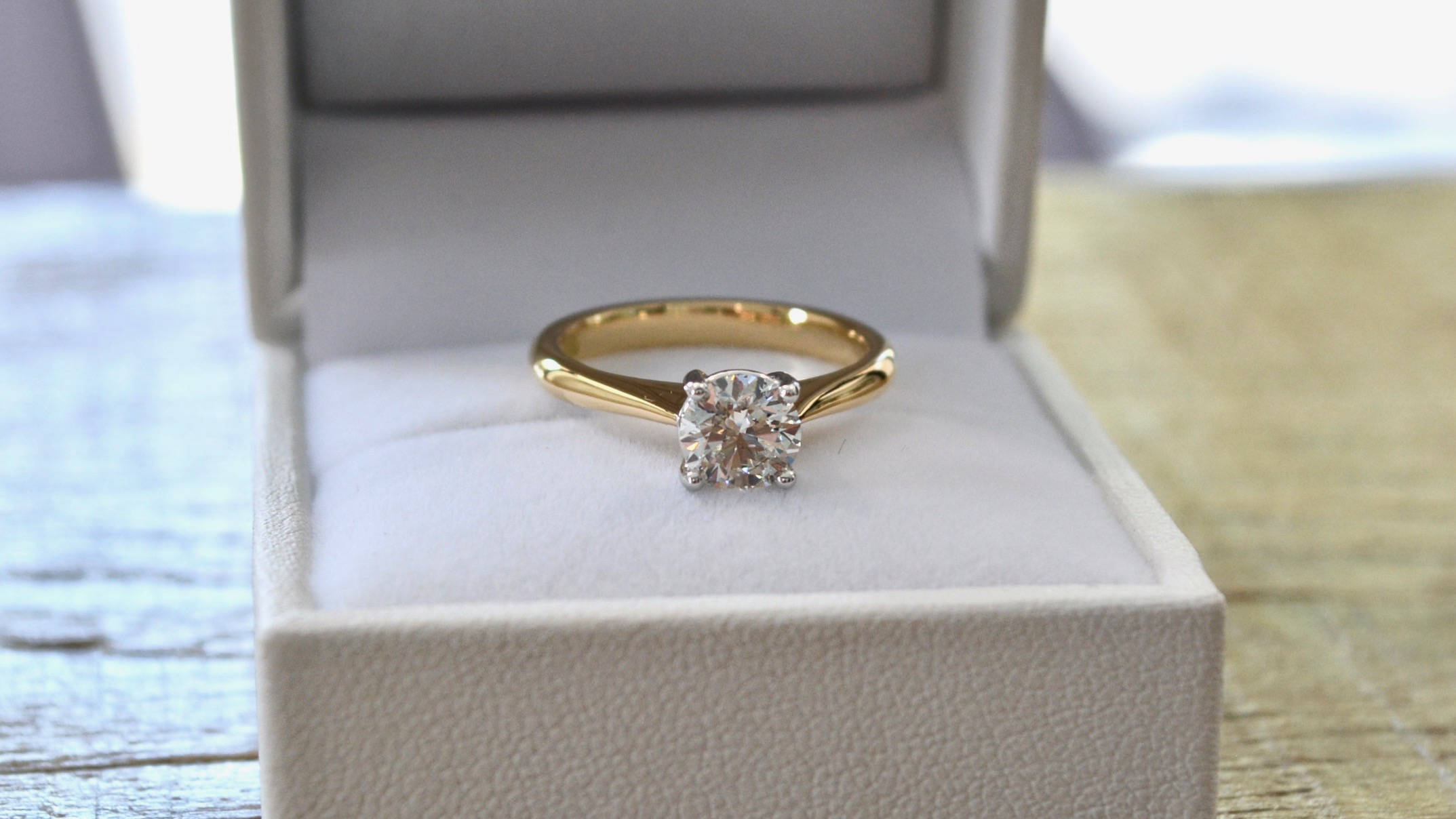 Round Brilliant Solitaire in yellow gold