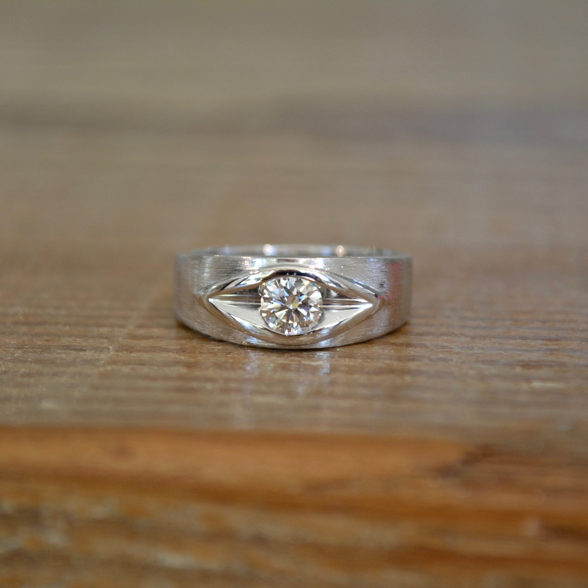 Wide PE Engagement Ring