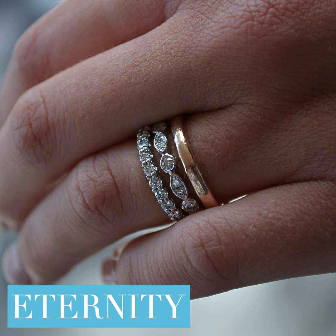 engagement rings in rose gold