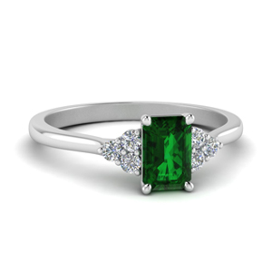 Emerald Cut Diamond Rings Australia