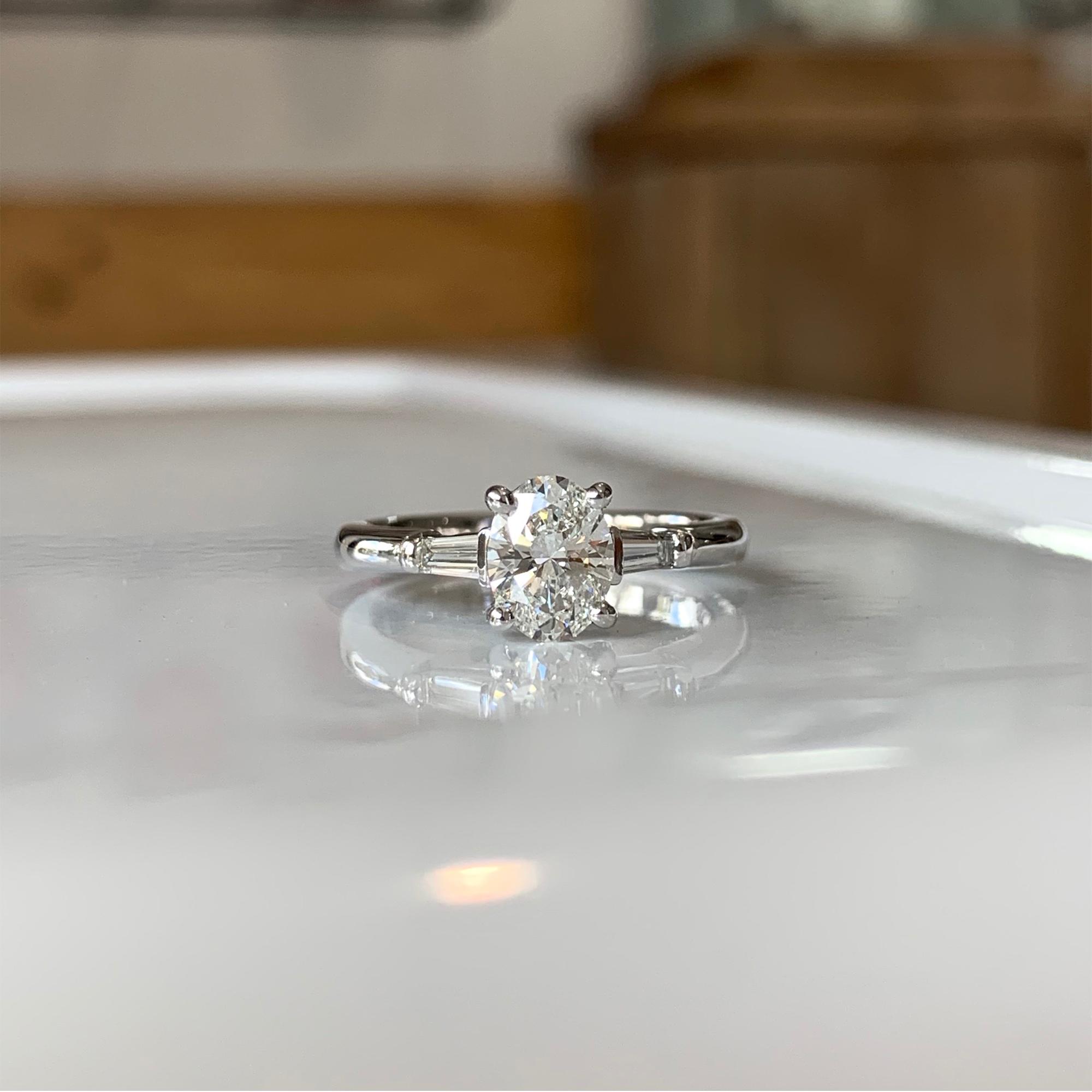 baguette engagement rings