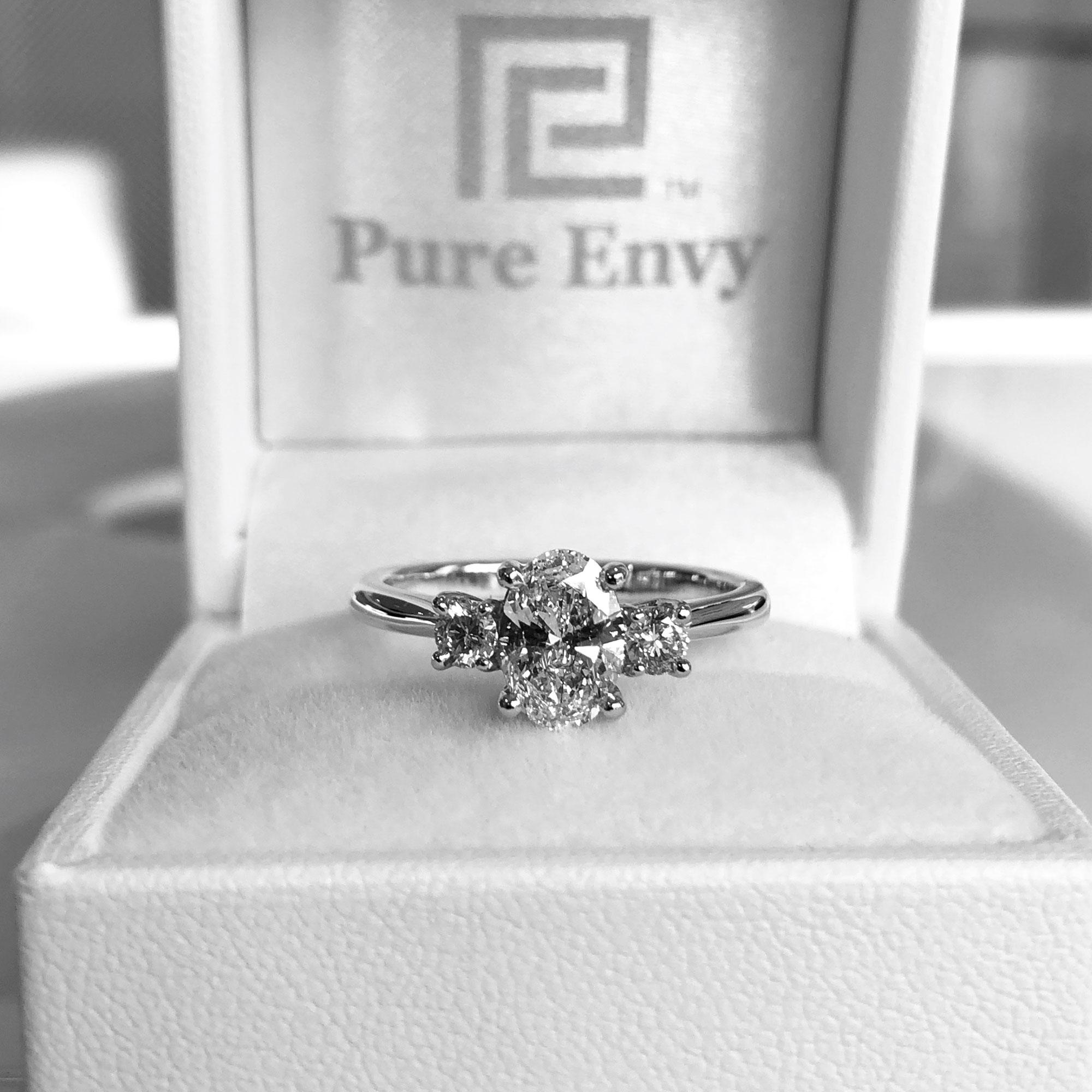 buy 3 stone wedding rings