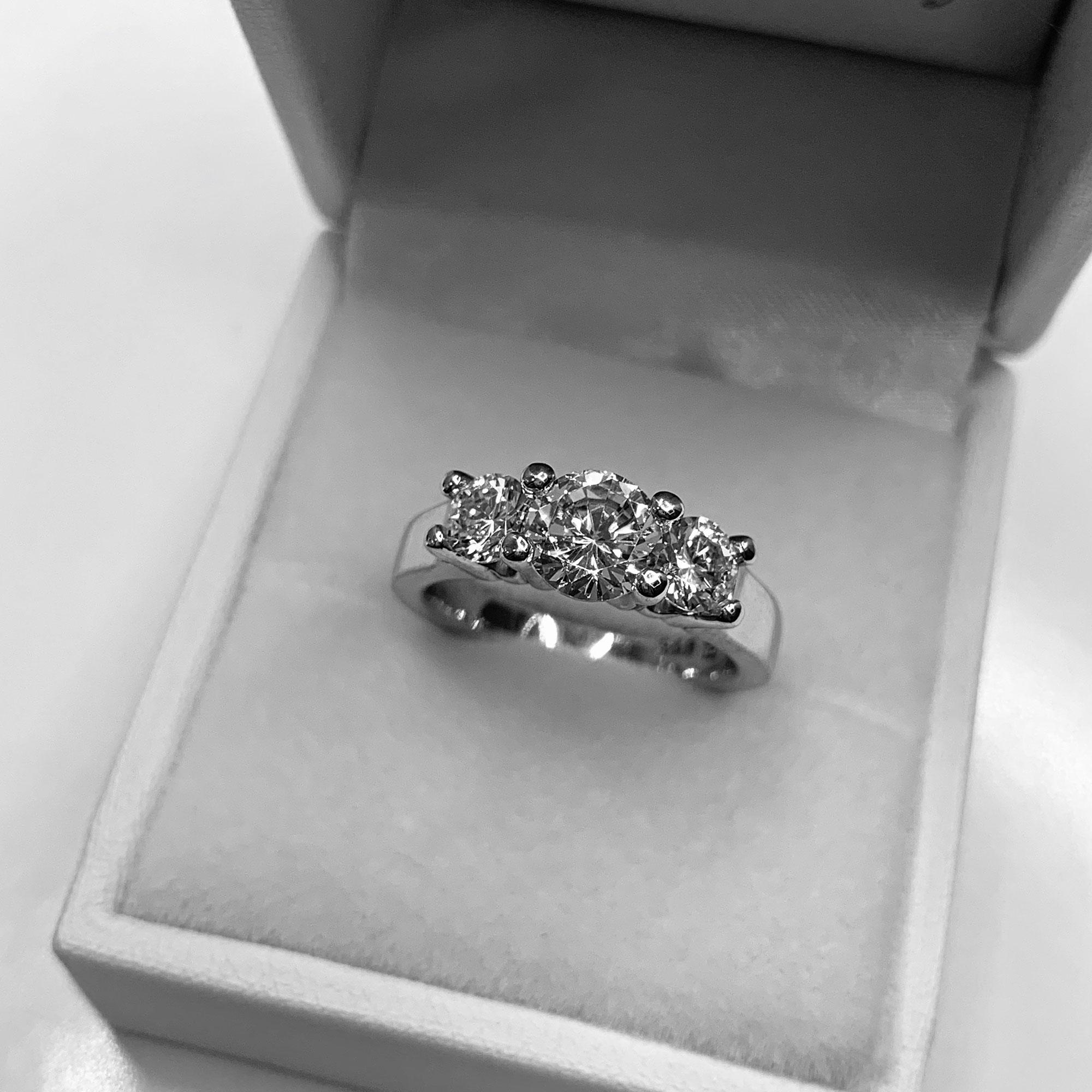 buy three stone wedding rings