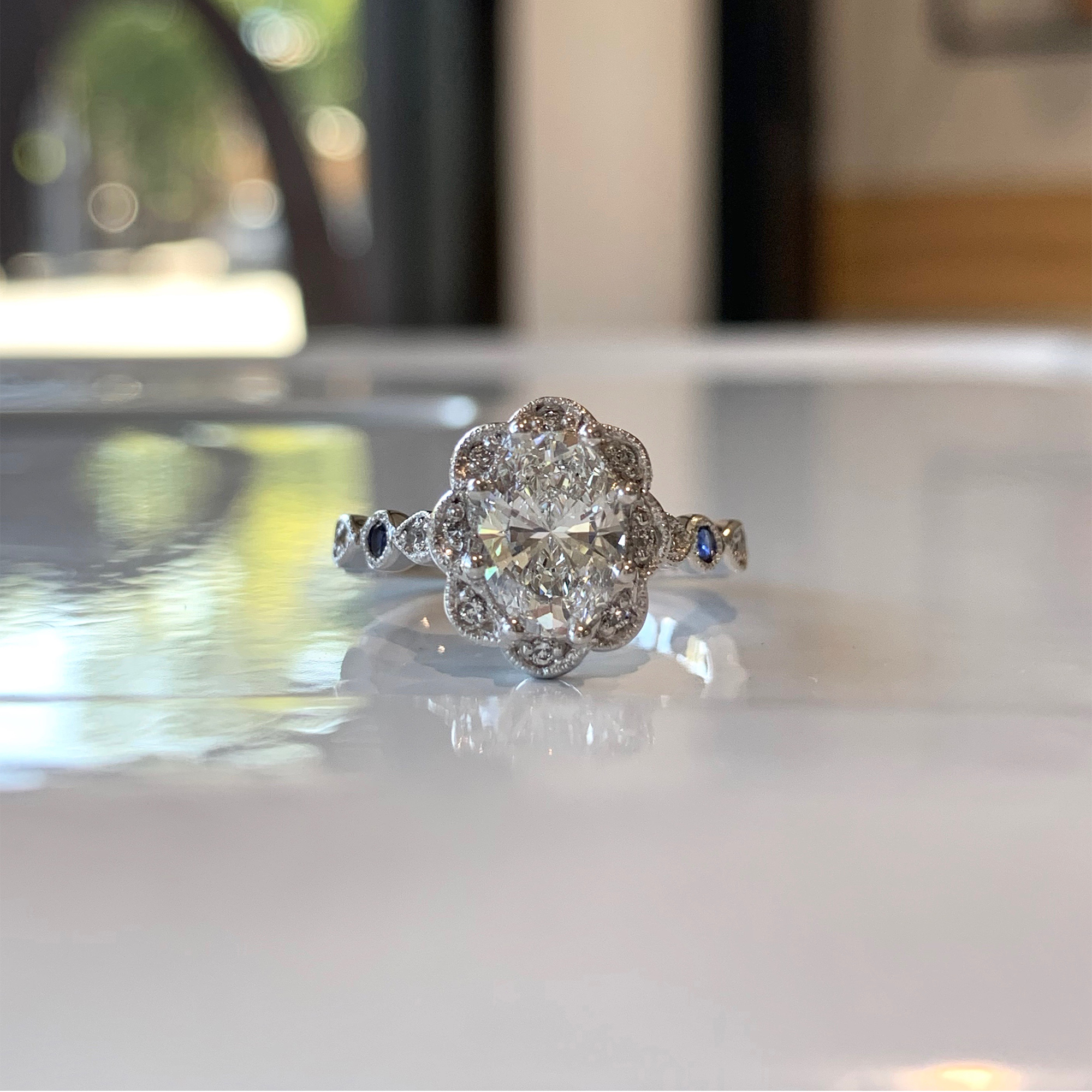 oval cut diamond engagement rings adelaide