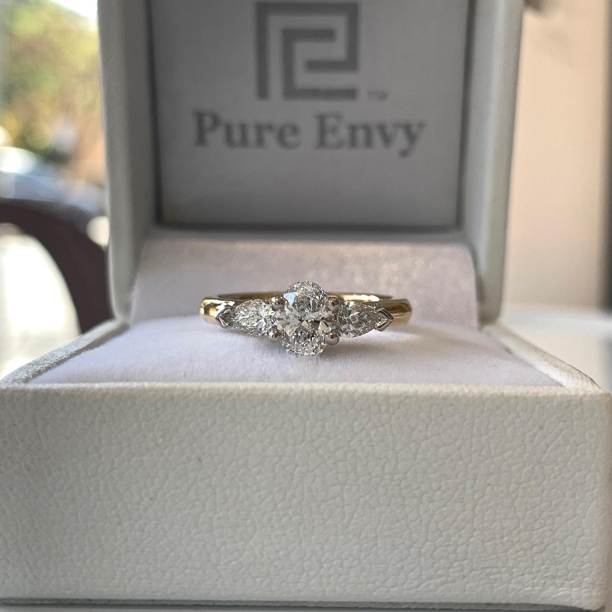 oval cut diamond engagement rings australia